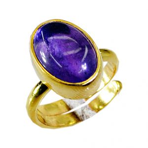 Riyo Amethyst 18k Y Gold Plate Wedding Ring Jewelry Sz 5 Gprame5-2005