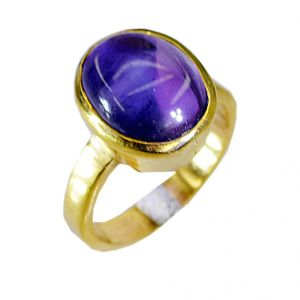 Riyo Amethyst 18.kt Gold Platings Sovereign Ring Sz 5.5 Gprame5.5-2001