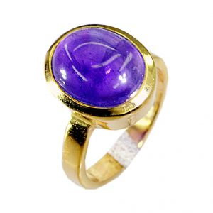 Riyo Amethyst 18c Gold Plating Thumb Ring Sz 5.5 Gprame5.5-2003