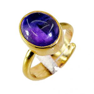 Riyo Amethyst 18-kt Gold Platings Beautiful Ring Sz 6 Gprame6-2016