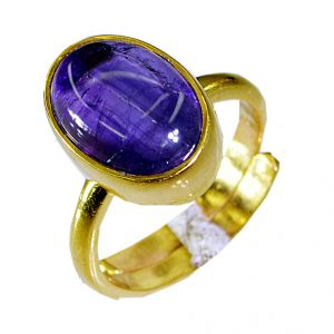 Riyo Amethyst 18k Gold Plated Mothers Ring Sz 6.5 Gprame6.5-2029