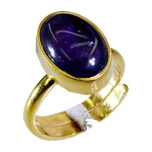 Riyo Amethyst Gold Plated Indian Sovereign Ring Sz 7 Gprame7-2034