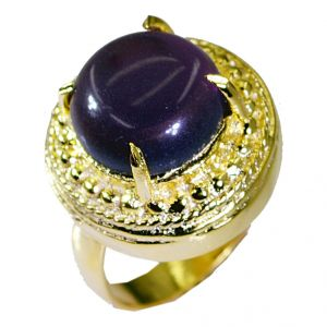 Riyo Amethyst Jewelry Gold Plated Toe Ring Jewelry Sz 7 Gprame7-2045