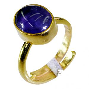 Riyo Amethyst Gold Plated Jewelry Set Birthstones Ring Sz 8 Gprame8-2039