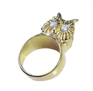 Riyo Gemstone 18kt Gold Plated Bat Ring Gprbat60-130006