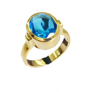 Riyo Blue Topaz Cz 18.kt Y Gold Plating Toe Ring Jewelry Sz 7 Gprbtcz7-92015