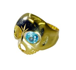 Riyo Blue Topaz Cz 18 C Gold Plating Ring Sz 7 Gprbtcz7-92089