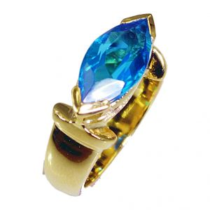 Riyo Blue Topaz Cz Gold Plated Fashion Posie Ring Sz 8 Gprbtcz8-92033