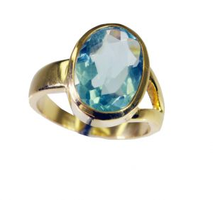 Riyo Blue Topaz Cz 18.kt Gold Plated Regards Ring Jewelry Sz 8 Gprbtcz8-92067