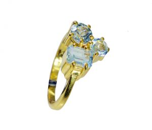 Riyo Blue Topaz Cz Gold Plated Wholesale Beautiful Ring Sz 8 Gprbtcz8-92076