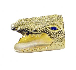 Riyo Gemstone 18kt Gold Plated Crocodile Ring Gprcro75-170001