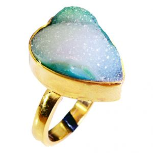 Riyo Druzy Drusy 18 Kt Gold Platings Toe Ring Jewelry Sz 7 Gprdru7-24010