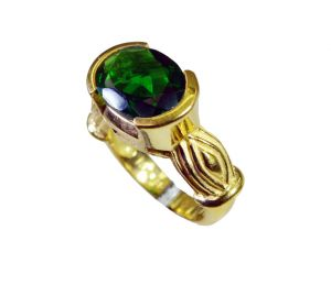 Riyo Emerald Cz Rhodium Plate Beautiful Ring Sz 6 Gpremcz6-96113