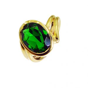Riyo Emerald Cz 18 Kt Y Gold Plating Claddagh Ring Sz 6.5 Gpremcz6.5-96007