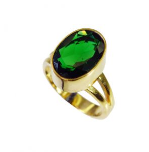 Riyo Emerald Cz 18.kt Gold Platings Purity Ring Jewelry Sz 7 Gpremcz7-96091