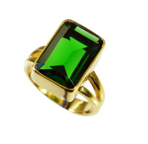 Riyo Emerald Cz 18c Gold Plating Toe Ring Jewelry Sz 7 Gpremcz7-96093