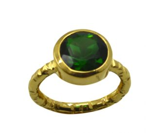 Riyo Green Emerald Cz 18kt Gold Plated Dependable Ring Gpremcz70-96166