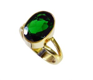 Riyo Emerald Cz 18.kt Y Gold Plating Ecclesiastical Ring Sz 7.5 Gpremcz7.5-96105