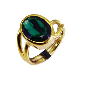 Riyo Emerald Cz 18.kt Gold Plating Ring Sz 8 Gpremcz8-96033