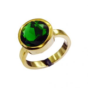 Riyo Emerald Cz 18k Y Gold Plating Claddagh Ring Sz 8 Gpremcz8-96036