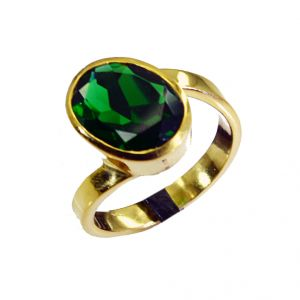 Riyo Emerald Cz 18k Gold Plated Classic Day Rings Sz 8 Gpremcz8-96038
