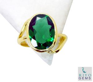 Riyo Emerald Cz Gold Plated Jewellery Purity Ring Jewelry Sz 8 Gpremcz8-96058