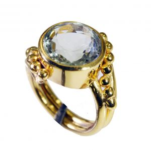 Riyo Green Amethyst 18 C Gold Plating Class Ring Sz 5.5 Gprgam5.5-28062