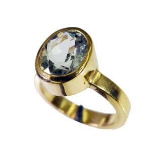 Riyo Green Amethyst Base Matel Y Gold Engagement Ring Sz 6 Gprgam6-28065