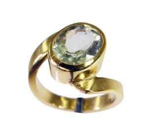 Riyo Green Amethyst 18.kt Y Gold Plated Guard Ring Sz 6.5 Gprgam6.5-28068