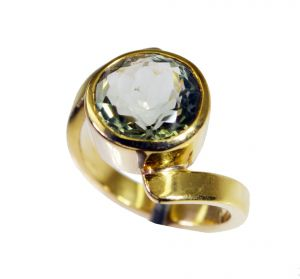Riyo Green Amethyst 18-kt Y Gold Plating Mothers Ring Sz 6.5 Gprgam6.5-28069