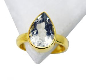 Riyo Green Amethyst 18k Y.g. Plated Engagement Ring Sz 8 Gprgam8-28056