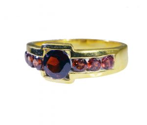 Riyo Garnet Buy Gold Plated Jewelry Classic Day Rings Sz 8 Gprgar8-26046