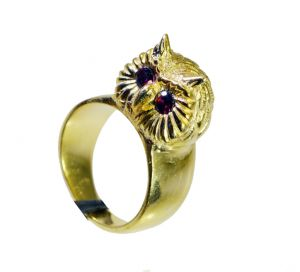 Riyo Garnet Gold Plated Fashion Friendship Ring Sz 8 Gprgar8-26049