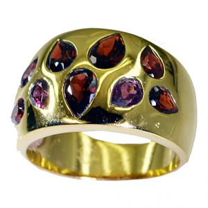 Riyo Garnet 18kt Gold Platings Mothers Ring Sz 8.5 Gprgar8.5-26025