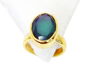 Riyo Green Onyx Indian Gold Plate Posie Ring Sz 5 Gprgon5-30006