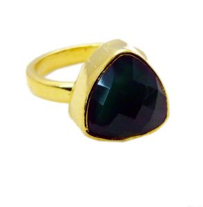 Riyo Green Onyx Gold Plated Jewellery Cameo Ring Sz 6 Gprgon6-30011