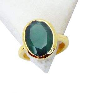 Riyo Green Onyx Gold Plated India Nice Ring Sz 6 Gprgon6-30013