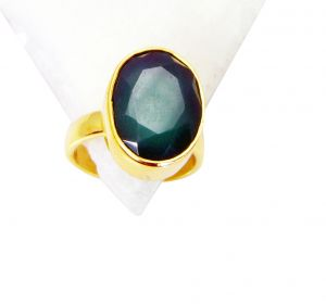 Riyo Green Onyx Gold Plated Sets Claddagh Ring Sz 6 Gprgon6-30018
