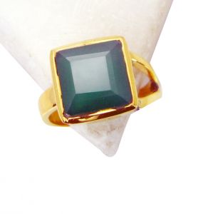 Riyo Green Onyx 18 C Gold Plated Friendship Ring Sz 7 Gprgon7-30026