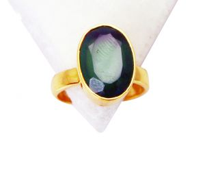 Riyo Green Onyx 18kt Y Gold Plating Mourning Ring Sz 7 Gprgon7-30032
