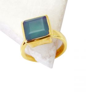 Riyo Green Onyx Wholesale Gold Plate Purity Ring Jewelry Sz 7.5 Gprgon7.5-30036
