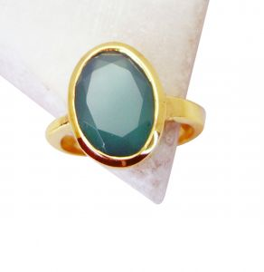 Riyo Green Onyx 18 C Gold Plating Toe Ring Jewelry Sz 8 Gprgon8-30043