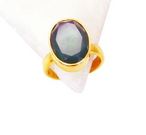 Riyo Green Onyx 18 Ct Ygold Plating Birthstones Ring Sz 8 Gprgon8-30047