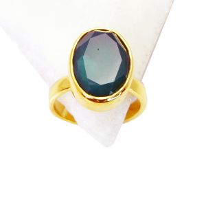 Riyo Green Onyx Base Matel Y Gold Bridal Rings Sz 8 Gprgon8-30048