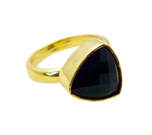 Riyo Green Onyx 18.kt Y Gold Plated Cocktail Ring Sz 9 Gprgon9-30053