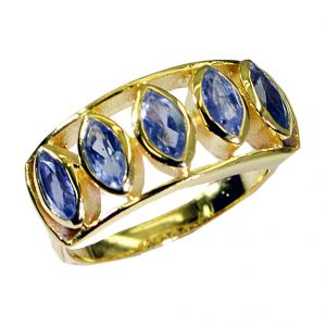 Riyo Iolite 18-kt Y Gold Fashion Purity Ring Jewelry Sz 8 Gpriol8-38004
