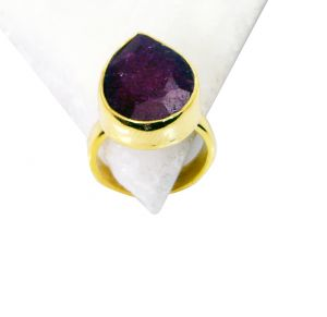 Riyo Indi Ruby Gold Plated Beautiful Ring Sz 5 Gpriru5-34007