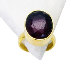 Riyo Indi Ruby 18k Y Gold Plating Ring Sz 6 Gpriru6-34012