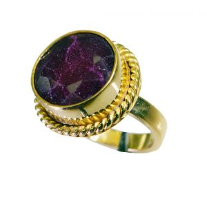 Riyo Indi Ruby Wholesale Gold Plate Class Ring Sz 6 Gpriru6-34044