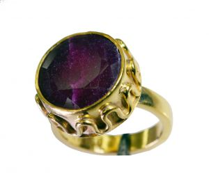 Riyo Indi Ruby Gold Plated Designs Engagement Ring Sz 6.5 Gpriru6.5-34047